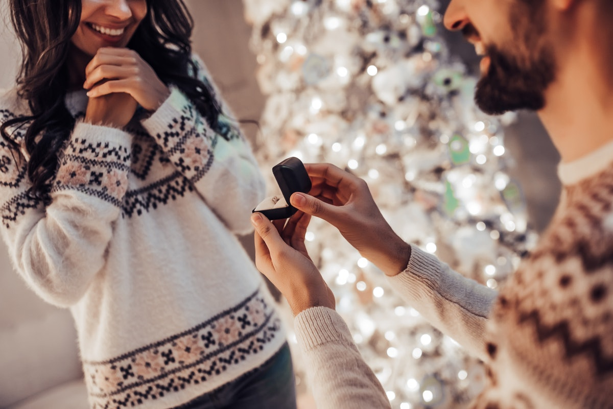 Many at-home proposal stories happened on Christmas.
