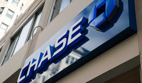 Bank, consumer report, credit report, credit, banks. This Nov. 29, 2018, photo shows a Chase bank location in Philadelphia. JP Morgan Chase reports financial results on