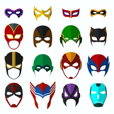Super hero masks set. Vector EPS10 illustration