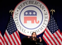 RNC Chairman Ronna McDaniel speaks at the Republican National Committee winter meeting in Washington...