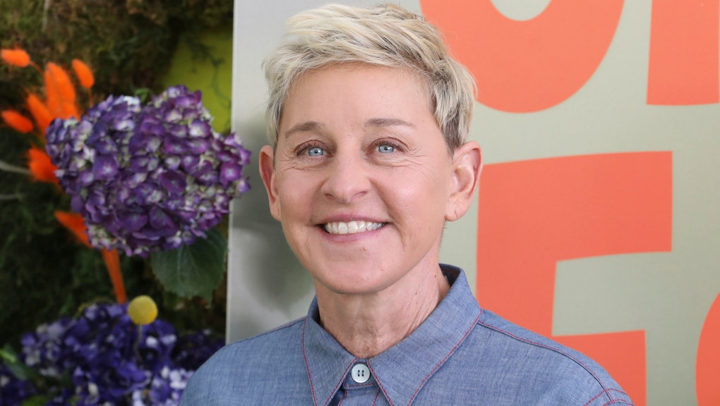 """Ellen DeGeneres attends the premiere of Netflix's """"Green Eggs and Ham"""" at the Hollywood American Legion Post 43 on in Los Angeles"""