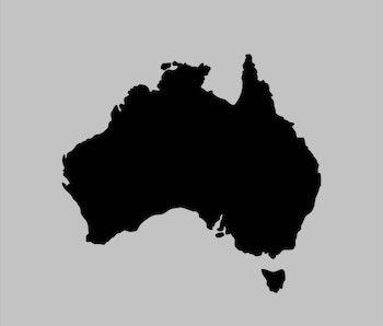 australia blank map vector . australia map template . australia silhouette . black australia map