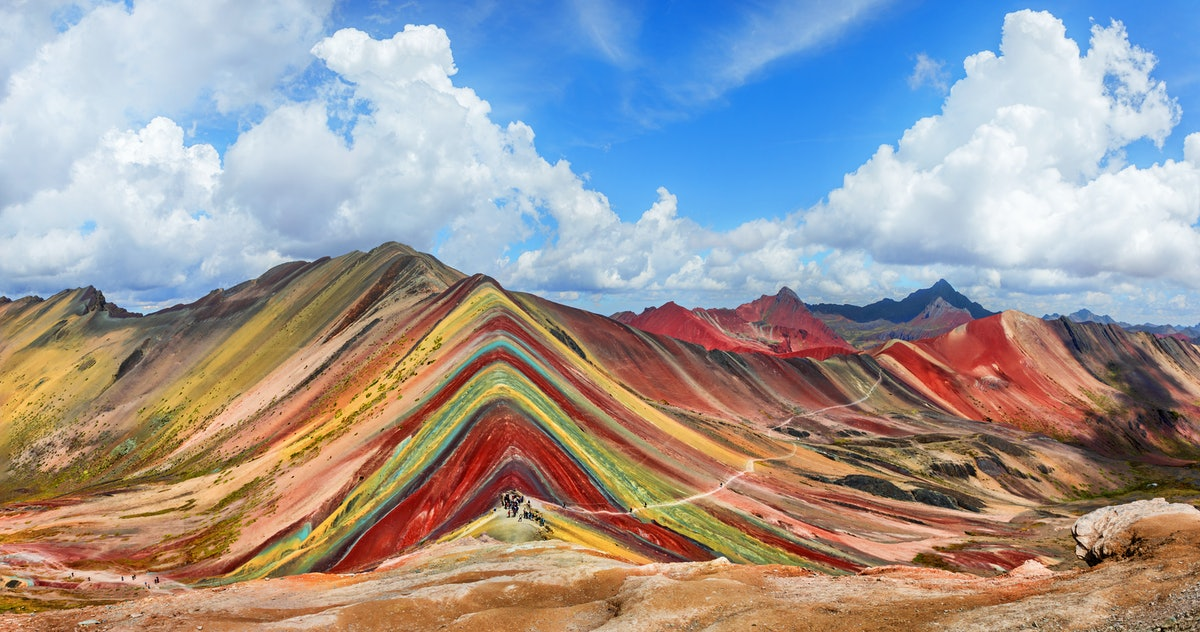 You can complete online puzzles of scenic destinations like the Magic Mountain in Peru.