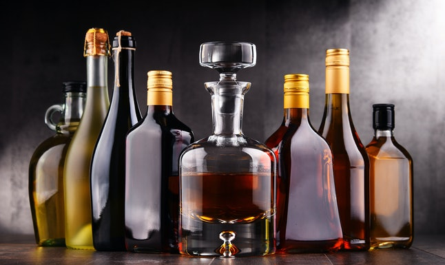 Hard liquor and spirits like whisky, bourbon, and vodka will have a longer shelf life.