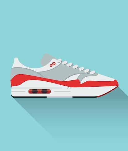Nike Airmax. Sneaker. Vector stock illustration. Sport wear for men and women. Flat design.