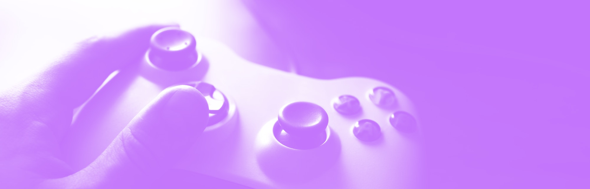 hands with a gamepad