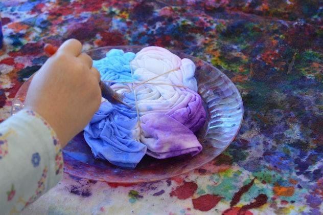 hand painting tie dye shirt