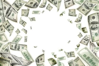 Dollar sign. American money. Cash background, us bill. Money fal