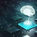 Machine learning , artificial intelligence, ai, deep learning blockchain neural network concept. Bra...
