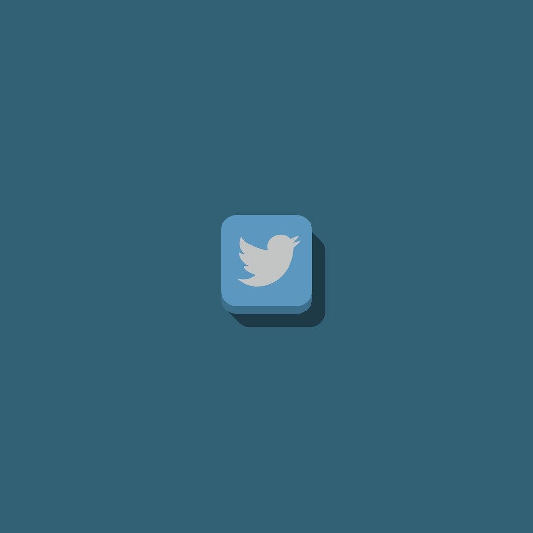 social media logo with 3d effect