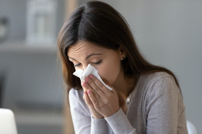 Allergy symptoms like runny nose are a common sign that you have an alcohol intolerance.