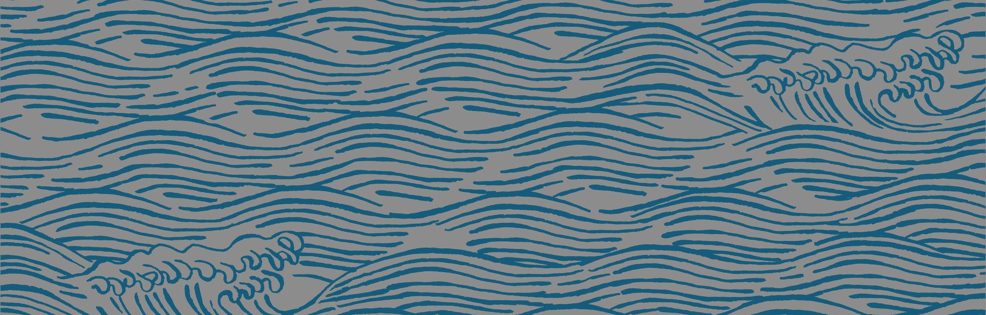 Sea waves japanese style illustration