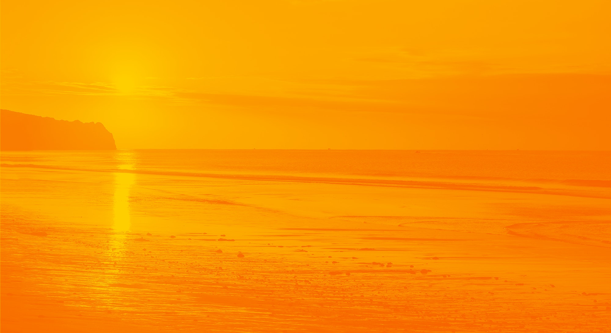 Sunset sea sand beach landscape. Sunset beach horizon. Sea sand sunset beach horizon panorama. Sunset beach landscape