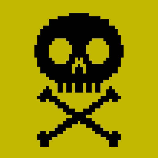 8-bit skull icon