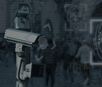 Surveillance camera with face recognition system