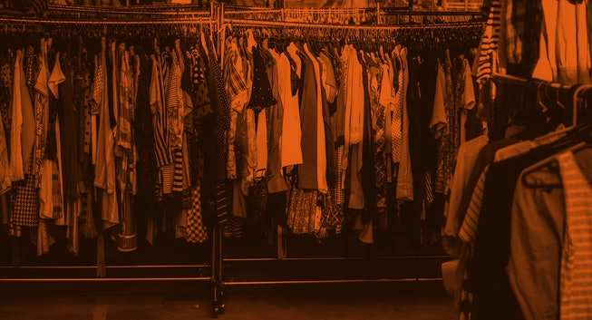 second hand cloth in flea market