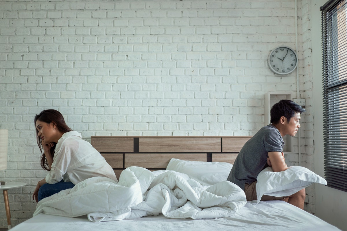 A lack of sex in your relationship might point to problems with stress or health.