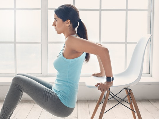 Young woman exercise at home healthy lifestyle