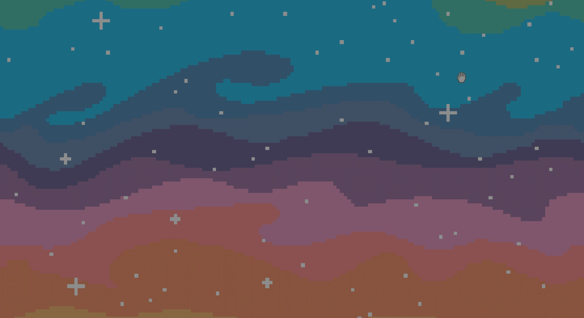 pixel art sky with stars sunset for games