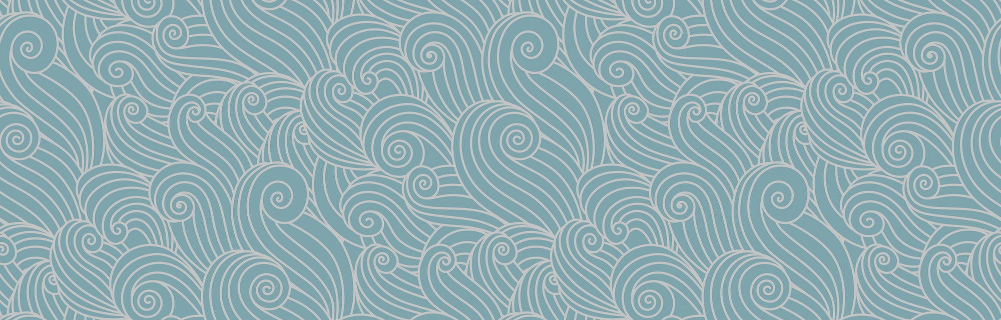 Abstract ocean waves background. Organic shapes wavy wallpaper. Vector seamless nautical sea tides pattern.