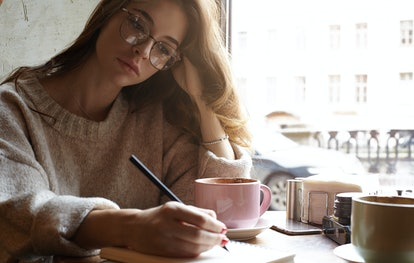 Writing in your journal can help you process new moon emotions