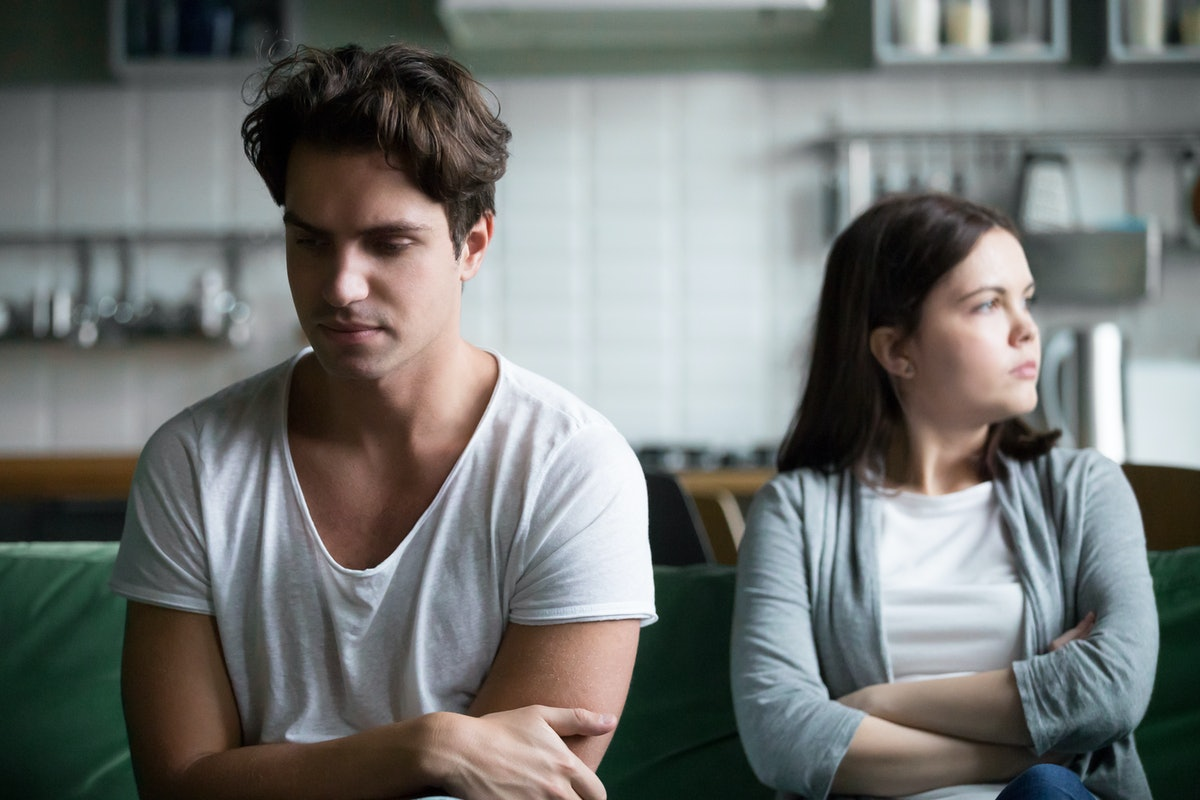 Upset millennial guy feels frustrated after fight with girlfriend, sad thoughtful husband troubled w...