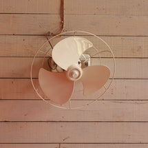 Small ceiling fan On old wooden floors.