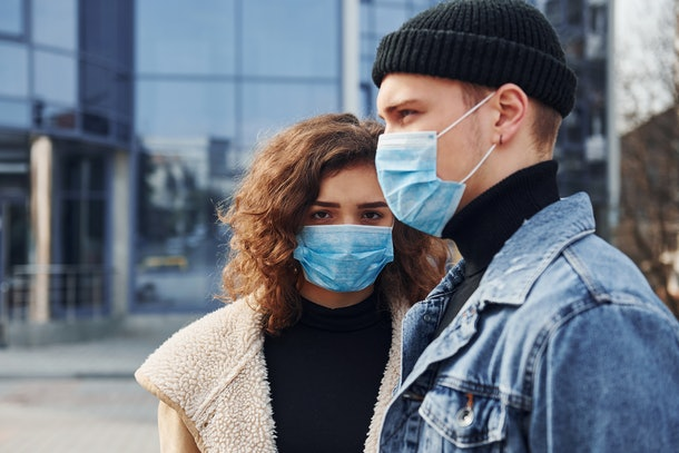 One of the quarantine habits that are relationship red flags is if your partner is dishonest about who they're hanging out with outside the house.
