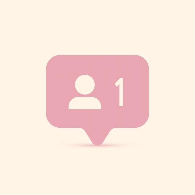 Follower notification. Social media icon user. User button, symbol, sign. Instagram 1 user. Insta follower. Instagram stories user image. Vector illustration. EPS 10