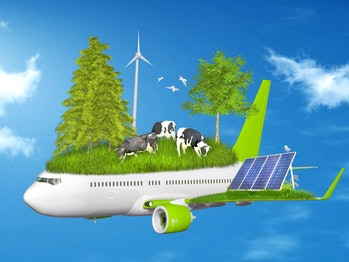 Ecology, eco flying collage
