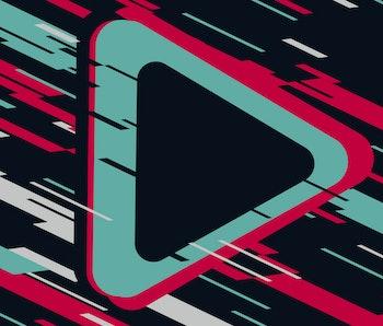 ARROW ICON,ARROW symbols  on a modern background Is becoming popular TikTok service, Tiktok background, TikTok social media.