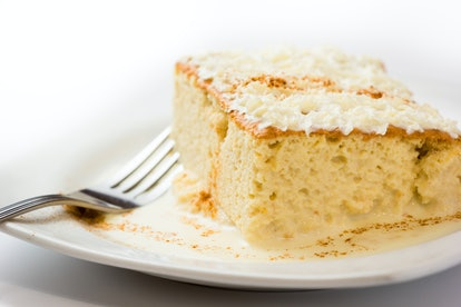 Three milk cake, Traditional dessert of Latin America