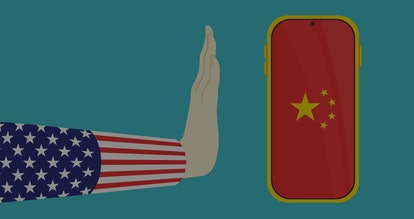 america banned china smartphone background