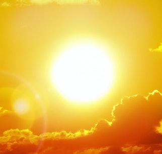 Heatwave hot sun. Climate Change. Global Warming.