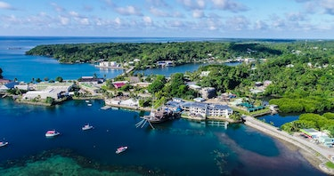 Colonia, Yap island, Federated States of Micronesia. Shot in Drone