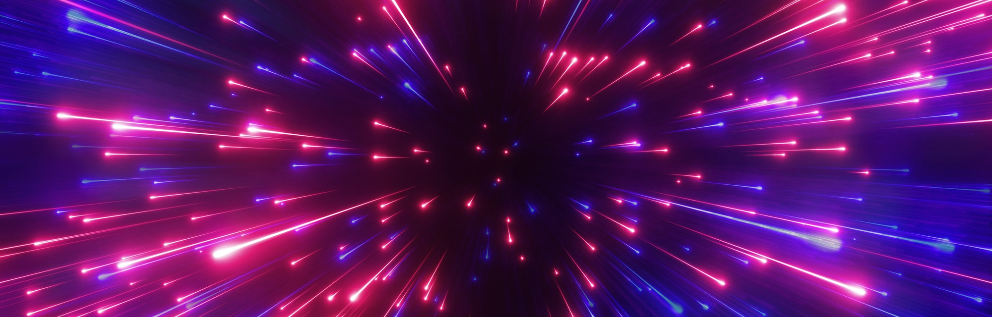 3d render, red blue fireworks, big bang, galaxy, abstract cosmic background, celestial, beauty of un...