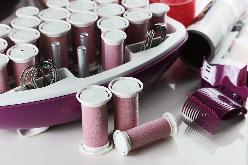 set of hot curlers
