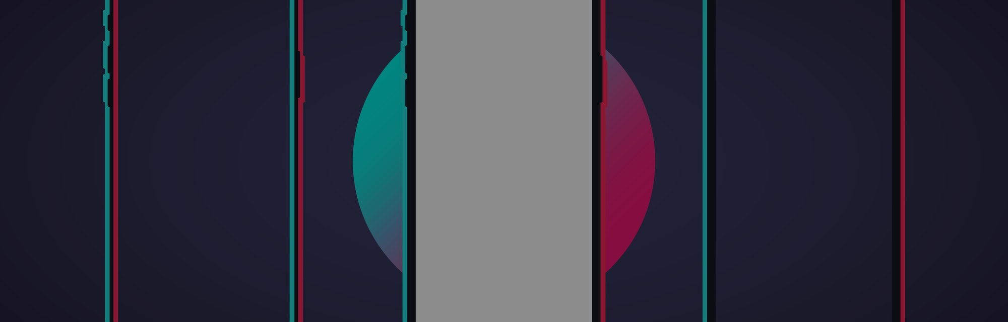 Mockups of colorful frames of the device, smartphone, mobile. Social media concept. Vector illustration. EPS 10