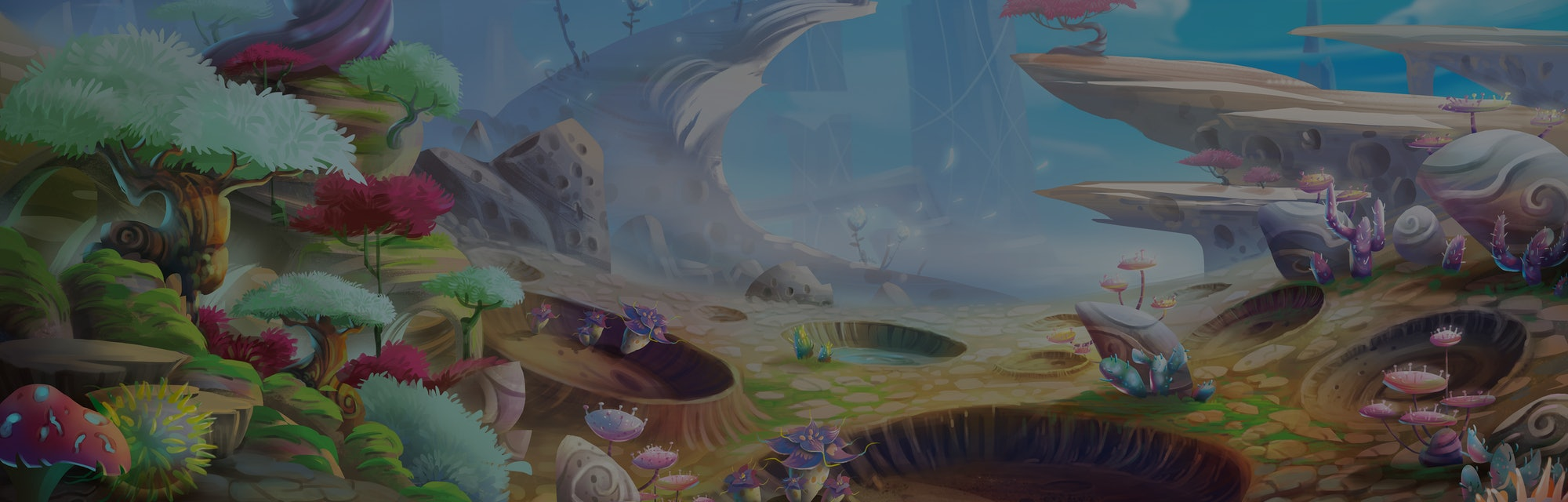 Alien Planet the Meteor Crafter with Fantastic, Realistic and Futuristic Style. Video Game's Digital...