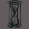 Vintage hourglass. Antique timer. Ink sketch isolated on white background. Hand drawn vector illustr...