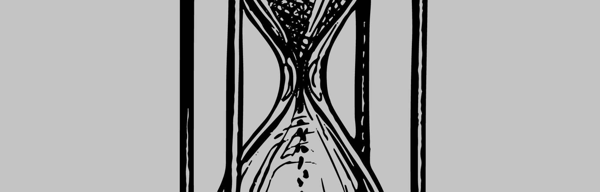 Vintage hourglass. Antique timer. Ink sketch isolated on white background. Hand drawn vector illustration. Retro style.