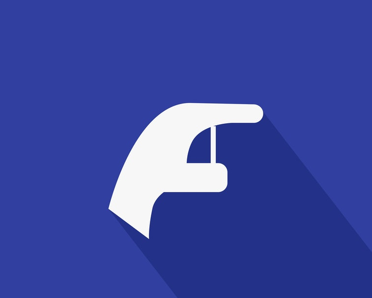 Facebook poke Icon Vector. Say hello graphic. social media User Interface Sign. hand Flat Illustrati...