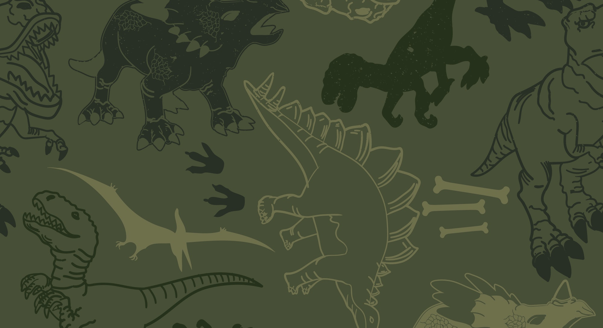 Seamless  camouflage Dino pattern,   grunge design for boys and girls