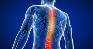3d rendered medically accurate illustration of a man having a painful back.