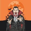 Dracula Scream Vector Design Illustration