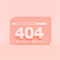 Page not found 404 design. 404 error web page concept. minimal style. 3d rendering