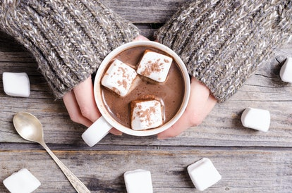 Marshmallow vodka goes great with hot chocolate