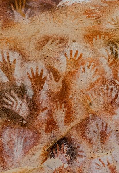 paintings of hands Cueva de las Manos. Santa Cruz, Argentina
