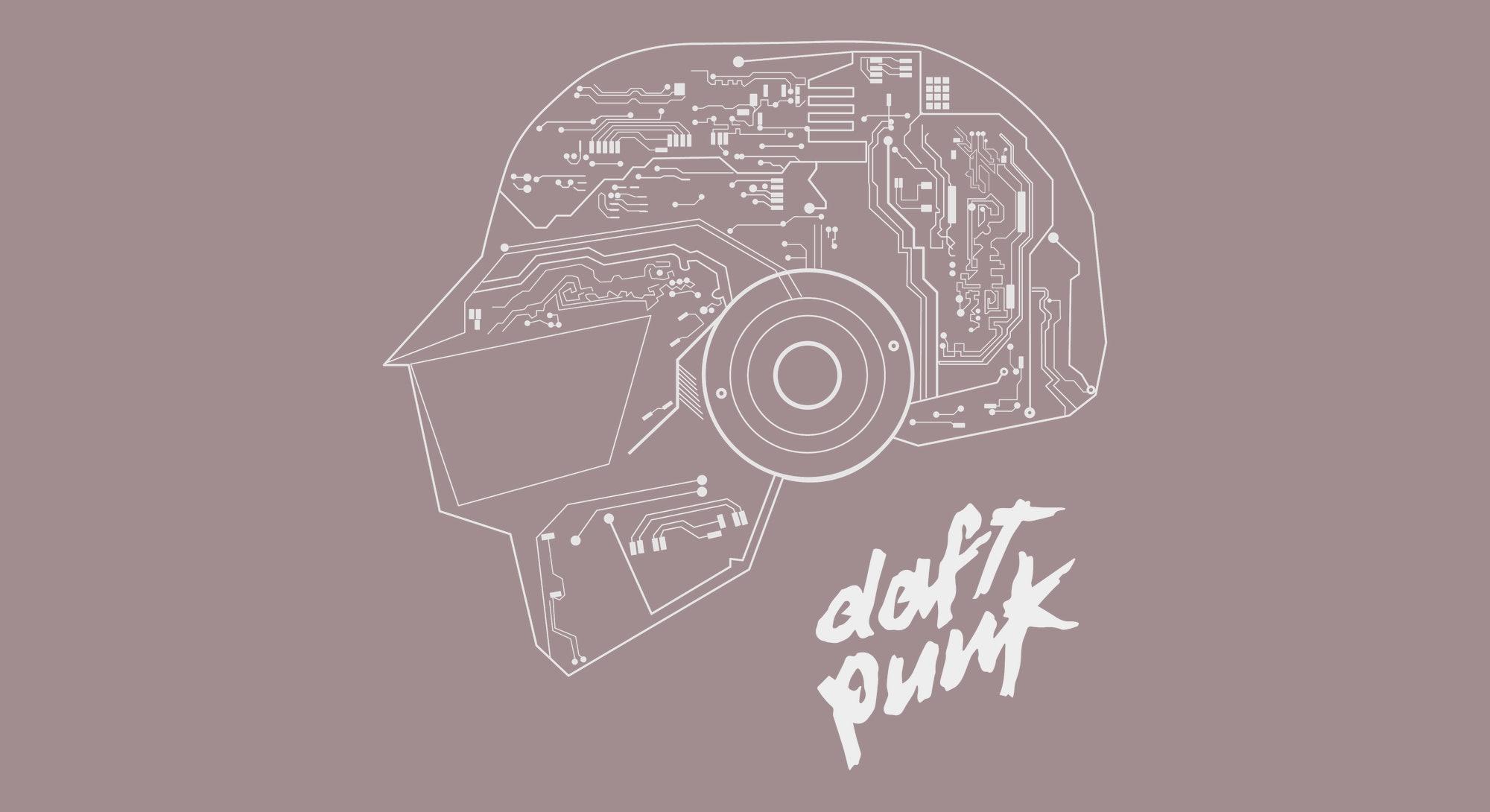 Daft Punk Logo Line Art