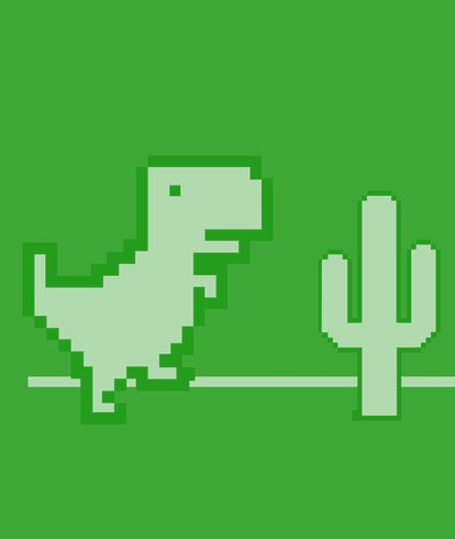 game of dinosaur in google chrome. black dinosaur icon shows offline error for android, Windows or m...